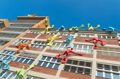 Arte moderno en el edificio Foto de archivo libre de regalías