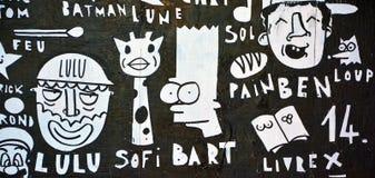 Arte Montreal Bart Simpson della via Fotografia Stock Libera da Diritti