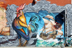 Arte Montreal da rua foto de stock royalty free