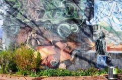 Arte Montreal de la calle Imagenes de archivo