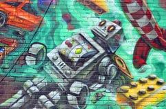 Arte Montreal della via immagini stock libere da diritti