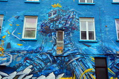 Arte Montreal della via Fotografia Stock