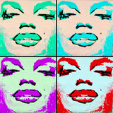 Arte Montreal Marilyn Monroe da rua imagem de stock royalty free