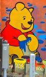 Arte Montreal Winnie the Pooh de la calle Foto de archivo