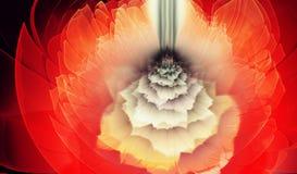 Arte morbida rossa di frattale del fiore Fotografie Stock Libere da Diritti