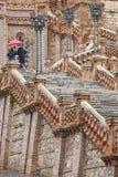 Arte Mudejar moderna Herança espanhola do marco da arquitetura Stai imagem de stock