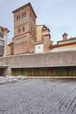 Arte Mudejar Torre di San Pedro Teruel Eredità della Spagna Architectu fotografia stock libera da diritti