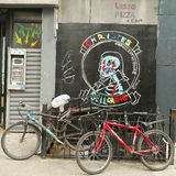 Arte mural em pouco Itália em Manhattan Fotos de Stock