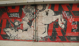 Arte mural em pouco Itália em Manhattan Fotos de Stock Royalty Free