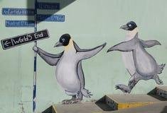 Arte mural em Ushuaia, Argentina Fotografia de Stock