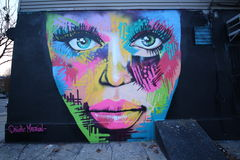 Arte mural em Williamsburg do leste em Brooklyn Fotografia de Stock Royalty Free