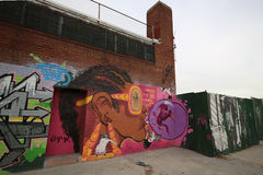 Arte mural em Williamsburg do leste em Brooklyn Fotos de Stock Royalty Free