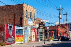 Arte mural en Bushwick, Brooklyn, NYC Imagenes de archivo