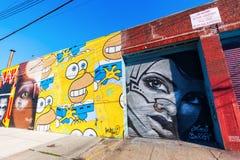 Arte mural en Bushwick, Brooklyn, NYC Imagen de archivo