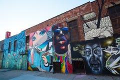 Arte mural en Bushwick, Brooklyn, NYC Fotografía de archivo