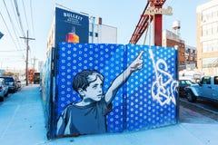 Arte mural en Bushwick, Brooklyn, NYC Imágenes de archivo libres de regalías