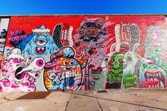 Arte mural en Bushwick, Brooklyn, NYC Foto de archivo