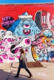 Arte mural en Bushwick, Brooklyn, NYC Fotos de archivo libres de regalías