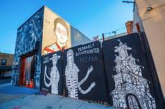 Arte mural en Bushwick, Brooklyn, NYC Fotografía de archivo libre de regalías