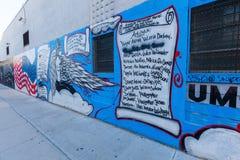 Arte mural en Bushwick, Brooklyn, NYC Fotos de archivo