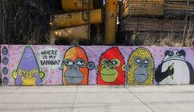 Arte mural en la sección de Astoria del Queens Fotos de archivo