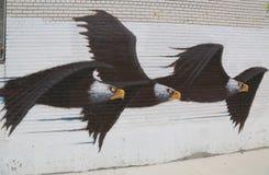 Arte mural en la sección de Astoria en Queens Foto de archivo
