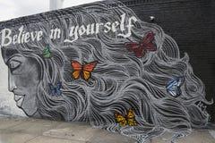 Arte mural en la sección de Astoria en Queens Fotografía de archivo libre de regalías