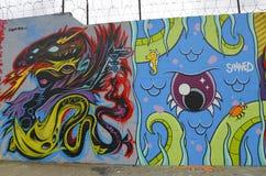 Arte mural en la sección de Astoria en Queens Imagen de archivo libre de regalías