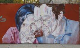 Arte mural en la sección roja del gancho de Brooklyn Imágenes de archivo libres de regalías