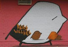 Arte mural en Williamsburg del este en Brooklyn Foto de archivo libre de regalías