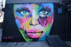 Arte mural en Williamsburg del este en Brooklyn Fotografía de archivo libre de regalías