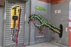 Arte mural en Williamsburg del este en Brooklyn Fotos de archivo libres de regalías
