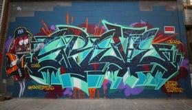 Arte mural en Williamsburg del este en Brooklyn Fotos de archivo