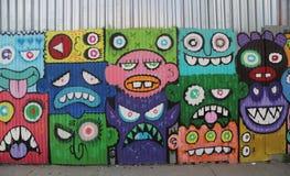 Arte mural en Williamsburg del este en Brooklyn Imagen de archivo libre de regalías