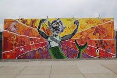 Arte mural na pele de coelho Art Walls da atração da arte da rua na seção de Coney Island em Brooklyn Imagem de Stock Royalty Free