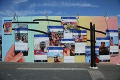 Arte mural na pele de coelho Art Walls na seção de Coney Island de Brooklyn Imagem de Stock