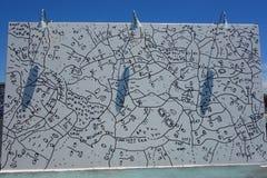 Arte mural na pele de coelho nova Art Walls da atração da arte da rua na seção de Coney Island em Brooklyn Fotos de Stock