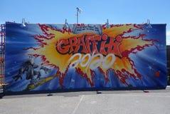 Arte mural na pele de coelho nova Art Walls da atração da arte da rua na seção de Coney Island em Brooklyn Fotografia de Stock Royalty Free