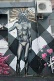 Arte mural na pista de AC/DC em Melbourne Fotos de Stock Royalty Free