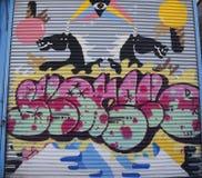 Arte mural na seção de Astoria do Queens Fotografia de Stock Royalty Free