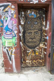 Arte mural na seção de Williamsburg em Brooklyn Fotos de Stock