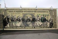 Arte murala al nuovo coniglio Art Walls dell'attrazione di arte della via alla sezione di Coney Island a Brooklyn immagine stock