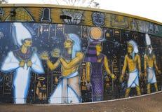 Arte murala al parco della balboa a San Diego Fotografie Stock Libere da Diritti