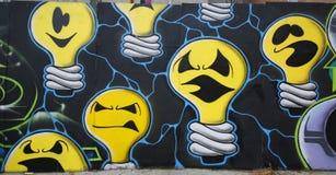 Arte murala alla vicinanza di altezze di prospettiva a Brooklyn Immagine Stock