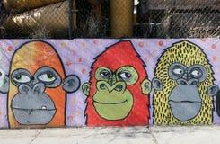 Arte murala nella sezione di Astoria del Queens Fotografia Stock Libera da Diritti