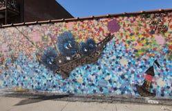 Arte murala nella sezione di Astoria del Queens Fotografie Stock