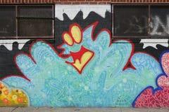 Arte murala nella sezione di Astoria del Queens Immagine Stock Libera da Diritti