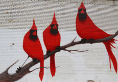 Arte murala nella sezione di Astoria in Queens Immagini Stock Libere da Diritti