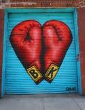 Arte murala a Williamsburg orientale a Brooklyn Fotografie Stock Libere da Diritti