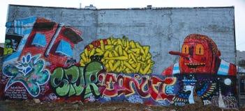 Arte murala a Williamsburg orientale a Brooklyn Fotografia Stock